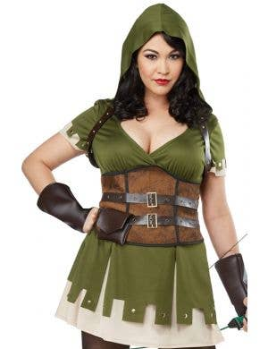 Lady Robin Hood Plus Size Women's Fancy Dress Costume
