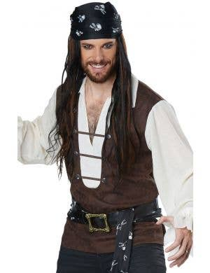 High Seas Adventurer Pirate Plus Size Men's Costume