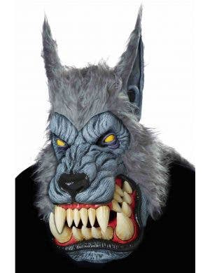 Lunar Psycho Deluxe Grey Werewolf Animotion Mask with Fur