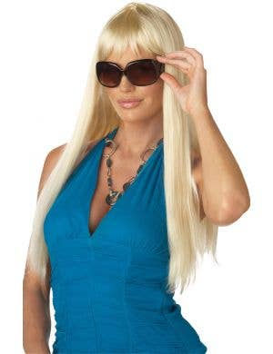 Glamorous Blonde Pop Star Women's Fashion Wig With Fringe