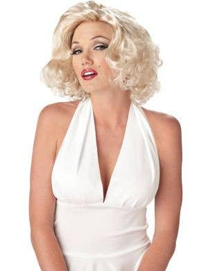 Marilyn Monroe Sexy Short Blonde Wavy Costume Wig