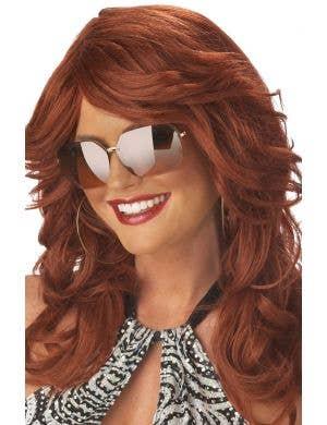 Discorama Mama 1970's Auburn Fashion Costume Wig