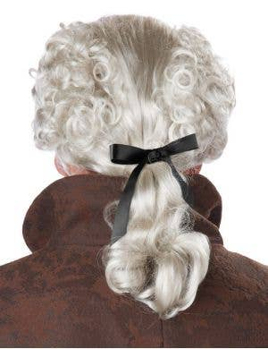 18th Century Peruke Men's White Costume Wig
