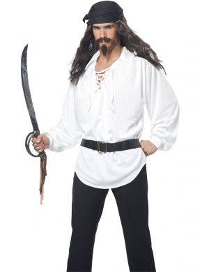 Pirate Men's Wig With Moustache And Chin Hair