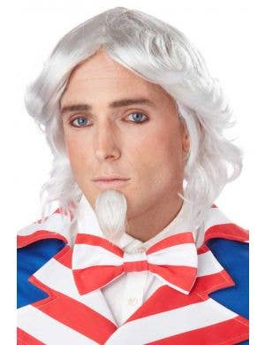 Uncle Sam White Costume Wig and Goatee Set