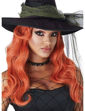 Sultry Siren Women's Deluxe Long Red Costume Wig