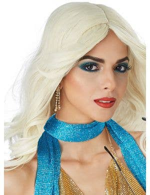 Disco Nights Women's 70's Wavy Blonde Wig