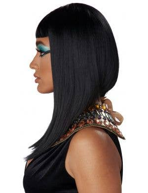 Cleopatra Women's Egyptian Black Concave Bob Costume Wig