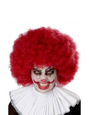 Jumbo Burgundy Red Adult's Clown Afro Costume Wig