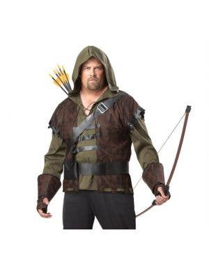 Robin Hood Plus Size Men's Fancy Dress Costume