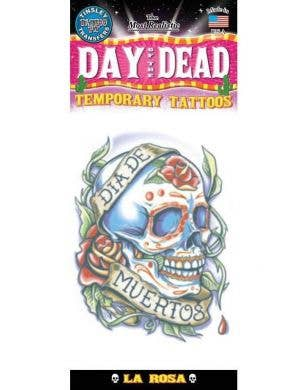 Day Of The Dead La Rosa Temporary Tattoo