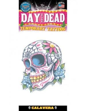 Day Of The Dead Calaveras Temporary Tattoo