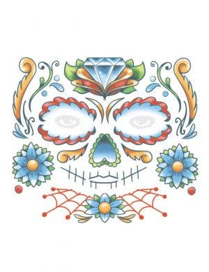 Sugar Skull Women's Temporary Tattoo Makeup