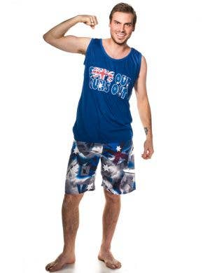 Sun's Out Guns Out Australia Day Tank Top