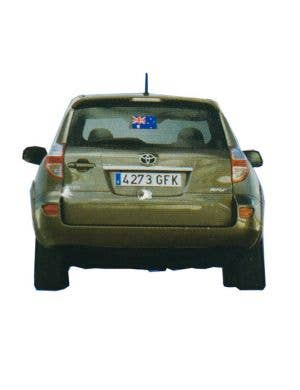Australian Flag Car Window Sticker