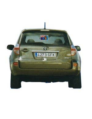 Boxing Kangaroo Australian Flag Car Sticker