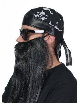 Pirate Costume Bandanna with White Skulls Print
