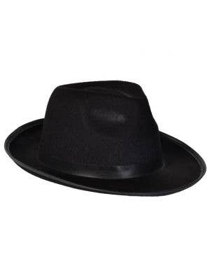 Gangster 1920's Fedora Hat in Black