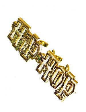 Hip Hop Gold 2 Finger Costume Jewellery Ring