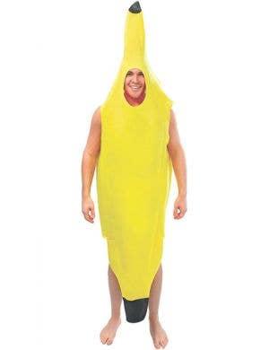 Novelty Adult's Yellow Banana Fancy Dress Costume