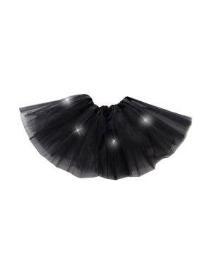 Layered Mesh Girl's Black Light Up Costume Tutu