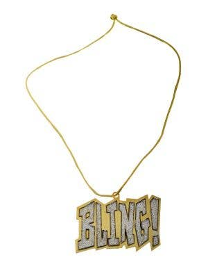 Mega Bling Gangster Gold Necklace Costume Accessory