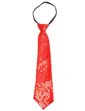 Sequined Red Adults Tie Costume Accessory