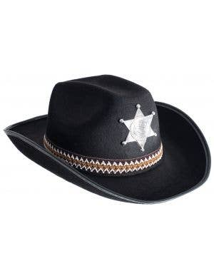 Deputy Sheriff Adults Black Hat Costume Accessory