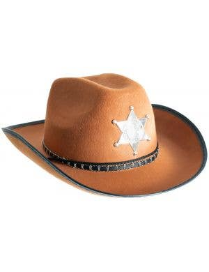 47ae109fb9d ... Deputy Sheriff Adults Tan Hat Costume Accessory