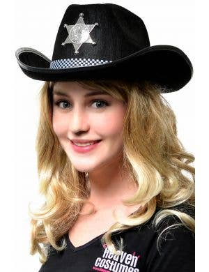 Deputy Sheriff Cowboy Adults Black Hat Costume Accessory