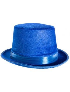 Velvet Blue Adults Top Hat Costume Accessory