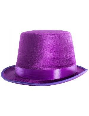 Velvet Purple Adults Top Hat Costume Accessory