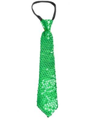 Sequined Green Adults Tie Costume Accessory
