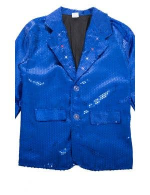 Australia Day Blue Sequin Light Up Adult's Costume Jacket