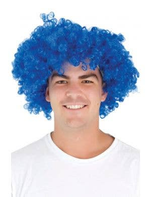 Jumbo Deluxe Blue Afro Party Wig
