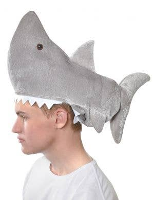 Adults Plush Novelty Shark Costume Hat