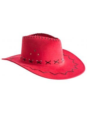 d10f5178ce0 ... Outback Faux Suede Light Red Adult s Costume Hat Accessory