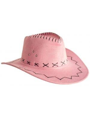 Outback Faux Suede Light Pink Women's Costume Hat Accessory