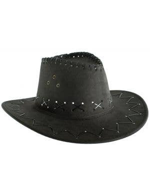 8ec637f97ca ... Faux Suede Kid s Black Cowboy Hat Costume Accessory
