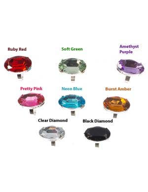 Adjustable Jumbo Jewel Ring - Colour Choice