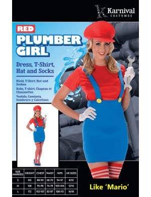 Plumber Girl Women's Sexy Mario Costume