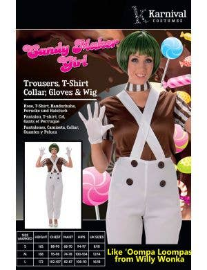 Oompa Loompa Women's Candy Maker Costume
