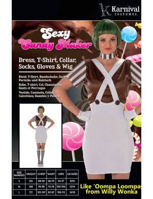 Oompa Loompa Sexy Women's Candy Maker Costume