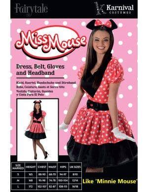 Miss Mouse Women's Fancy Dress Costume