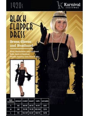 Flapper Girl Women's Black 1920's Costume