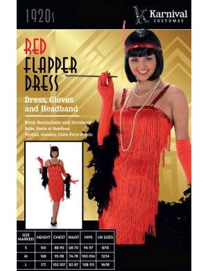 Flapper Girl Women's Red 1920's Costume