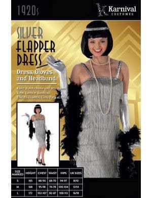 Flapper Girl Women's Silver 1920's Costume
