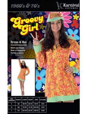 Groovy Girl Women's 1960's Hippie Costume