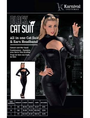 Feline Fatale Women's Sexy Black Catsuit Costume