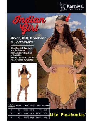 Native American Indian Women's Pocahontas Costume